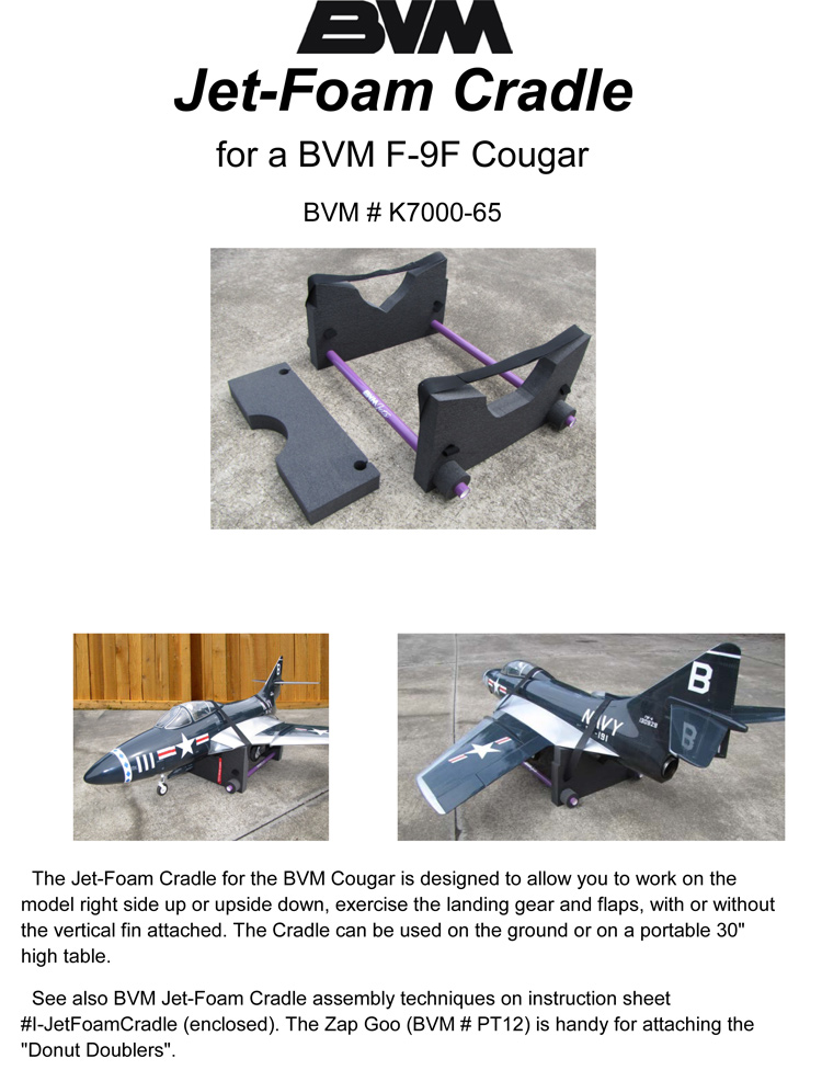 Jet Foam Cradle Cougar
